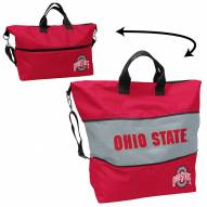 Ohio State Buckeyes Crosshatch Expandable Tote