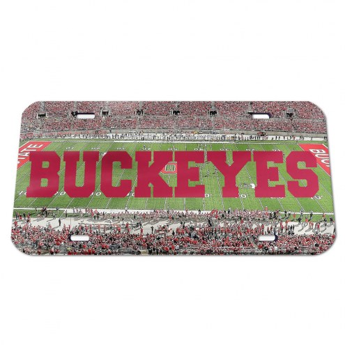 Ohio State Buckeyes Crystal Mirror License Plate