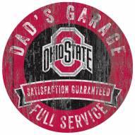 Ohio State Buckeyes Dad's Garage Sign