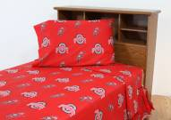 Ohio State Buckeyes Dark Bed Sheets