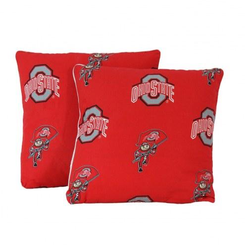 Ohio State Buckeyes Decorative Pillow Set