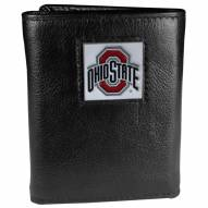 Ohio State Buckeyes Deluxe Leather Tri-fold Wallet in Gift Box