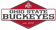 Ohio State Buckeyes Diamond Panel Metal Sign