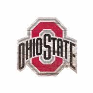 Ohio State Buckeyes Distressed Logo Cutout Sign