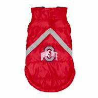Ohio State Buckeyes Dog Puffer Vest