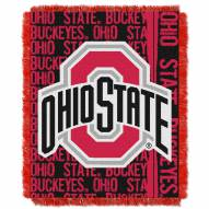 Ohio State Buckeyes Double Play Woven Throw Blanket
