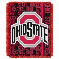 Ohio State Buckeyes Double Play Woven Throw Blanket