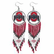 Ohio State Buckeyes Dreamcatcher Earrings