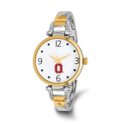 Ohio State Buckeyes Elegant Ladies Two-Tone Watch