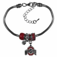 Ohio State Buckeyes Euro Bead Bracelet