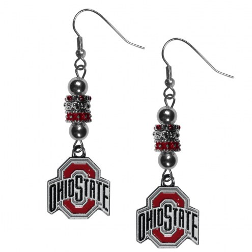 Ohio State Buckeyes Euro Bead Earrings
