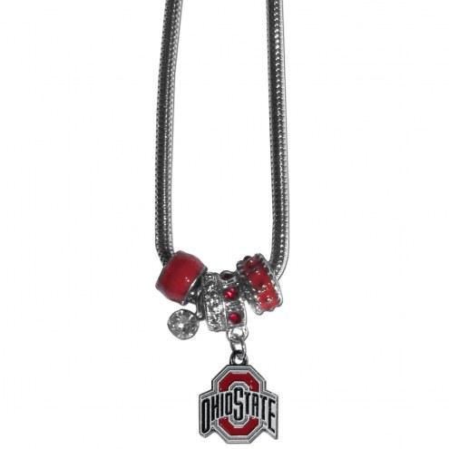 Ohio State Buckeyes Euro Bead Necklace