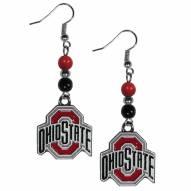 Ohio State Buckeyes Fan Bead Dangle Earrings