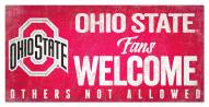 Ohio State Buckeyes Fans Welcome Sign