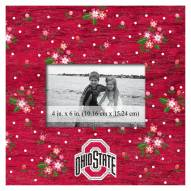 """Ohio State Buckeyes Floral 10"""" x 10"""" Picture Frame"""