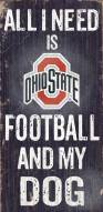 Ohio State Buckeyes Football & Dog Wood Sign