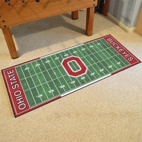 Ohio State Buckeyes Football Field Runner Rug