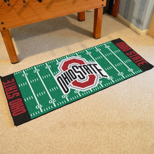 Ohio State Buckeyes Football Field Runner Rug