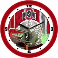 Ohio State Buckeyes Football Helmet Wall Clock