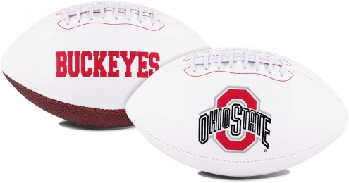 Ohio State Buckeyes Full Size Embroidered Signature Series Football