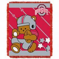 Ohio State Buckeyes Fullback Baby Blanket