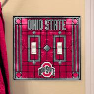 Ohio State Buckeyes Glass Double Switch Plate Cover