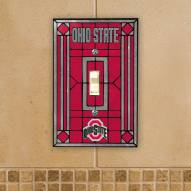 Ohio State Buckeyes Glass Single Light Switch Plate Cover