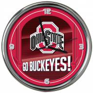 Ohio State Buckeyes Go Team Chrome Clock