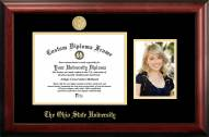 Ohio State Buckeyes Gold Embossed Diploma Frame with Portrait