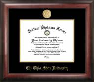 Ohio State Buckeyes Gold Embossed Diploma Frame