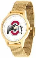 Ohio State Buckeyes Gold Mesh Statement Watch