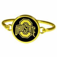 Ohio State Buckeyes Gold Tone Bangle Bracelet