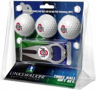 Ohio State Buckeyes Golf Ball Gift Pack with Hat Trick Divot Tool
