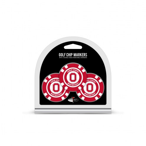 Ohio State Buckeyes Golf Chip Ball Markers