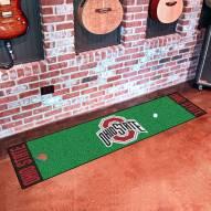 Ohio State Buckeyes Golf Putting Green Mat