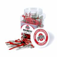 Ohio State Buckeyes 175 Golf Tee Jar