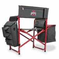 Ohio State Buckeyes Gray/Red Fusion Folding Chair