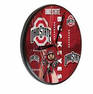 Ohio State Buckeyes Digitally Printed Wood Clock