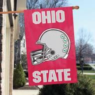 Ohio State Buckeyes - Helmet NCAA Applique 2-Sided Banner Flag