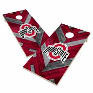 Ohio State Buckeyes Herringbone Cornhole Game Set