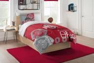 Ohio State Buckeyes Hexagon Full/Queen Comforter & Shams Set