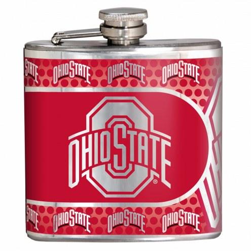 Ohio State Buckeyes Hi-Def Stainless Steel Flask