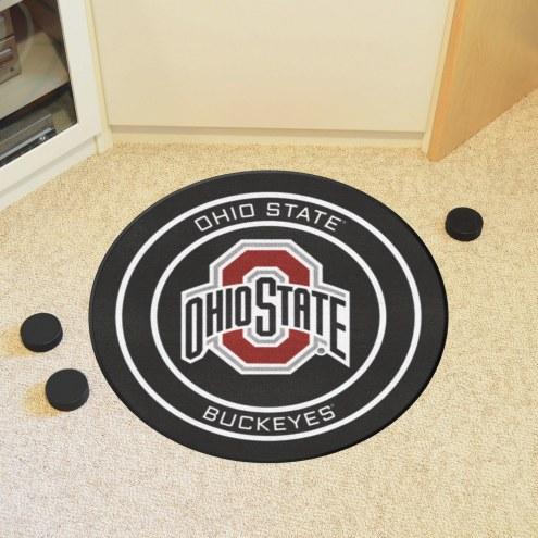 Ohio State Buckeyes Hockey Puck Mat
