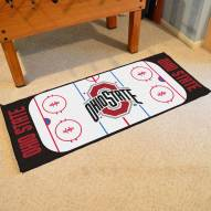 Ohio State Buckeyes Hockey Rink Runner Mat