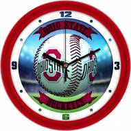 Ohio State Buckeyes Home Run Wall Clock