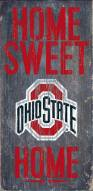 Ohio State Buckeyes Home Sweet Home Wood Sign