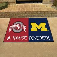 Ohio State Buckeyes/Michigan Wolverines House Divided Mat