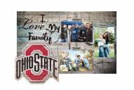 Ohio State Buckeyes I Love My Family Clip Frame