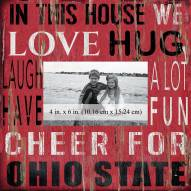 """Ohio State Buckeyes In This House 10"""" x 10"""" Picture Frame"""