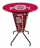 Ohio State Buckeyes Indoor Lighted Pub Table